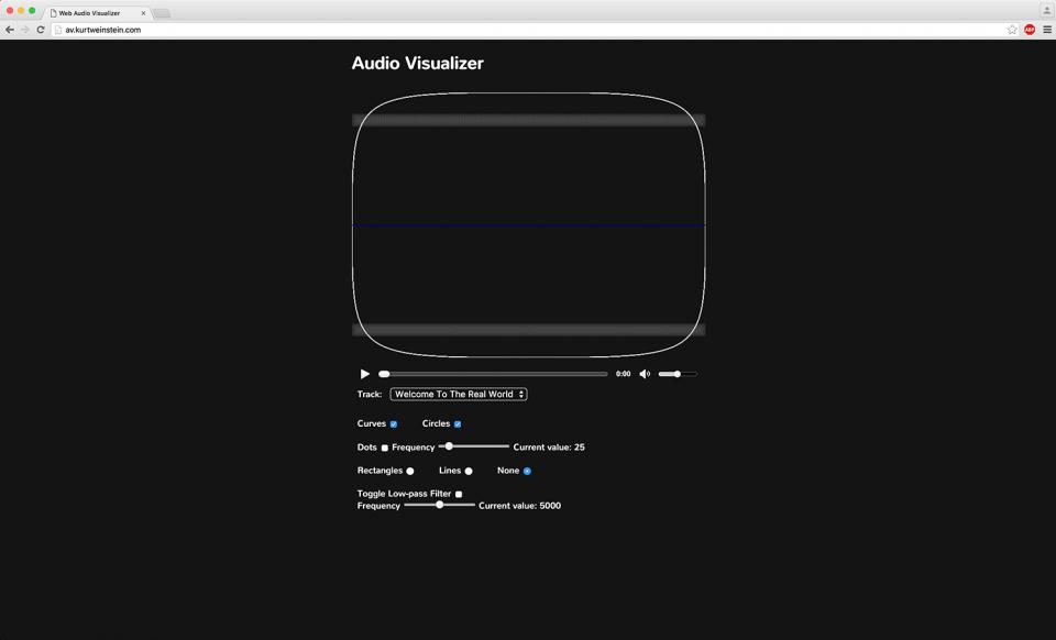 Web Audio Visualizer